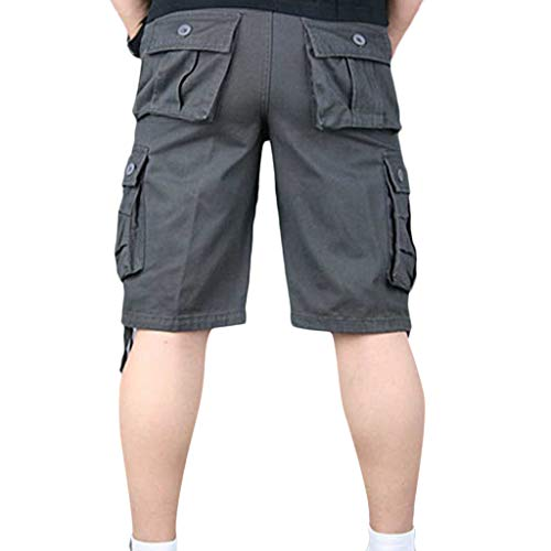 55c4380bcce8 JJLIKER Men's Multi Pocket Twill Cargo Shorts Pants Loose Fit Cotton Reg and  Big and Tall Sizes Outdoor Wear Lightweight Gray