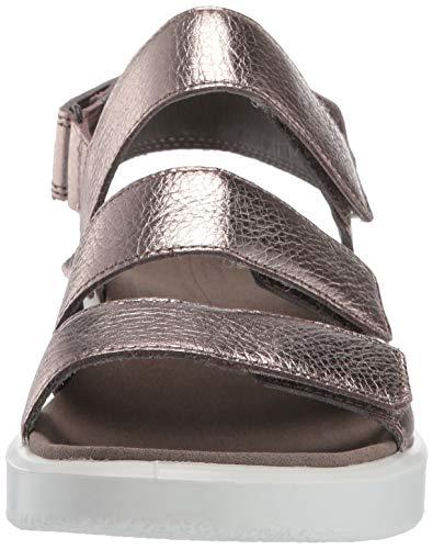 Aperta Flowt Metallic Donna 54893 Ecco Grey Punta warm Sandali CawqF