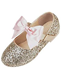 Flower Girls Princess Dress Shoes Ballerina Non-slip...
