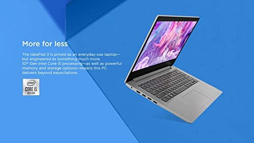 "New_Lenovo IdeaPad 3 14"" FHD Laptop, Intel tenth Gen Core i5-1035G1 (as much as 3.6GHz), 8GB DDR4 RAM, 512GB PCIe SSD, Webcam, Wi-Fi, Bluetooth 5.0, HDMI, 4-in-1 Card Reader, Win10, Shoxlab 1-Week Support"