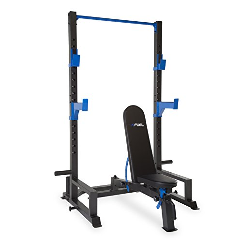 Fuel Performance Deluxe Power Cage and Adjustable Utility Bench Set (Bench and Squat Rack)