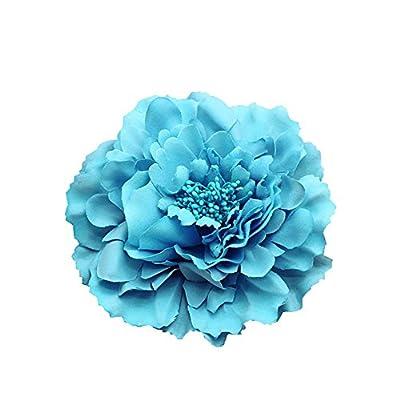 Kewl Fashion Women's Bohemia Peony Flowers Hairpin Hair Clip Flower Brooch