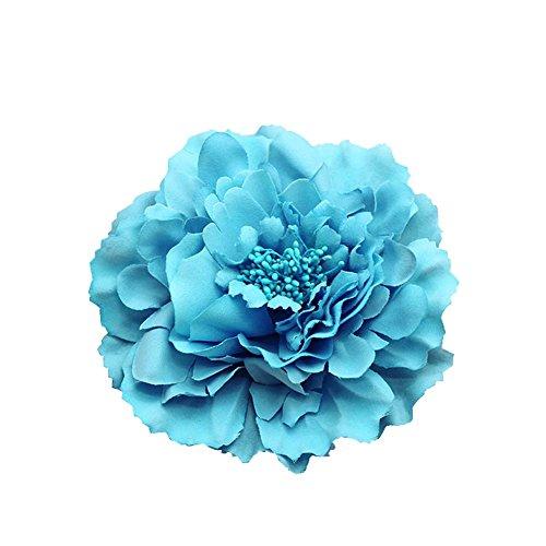 Kewl Fashion Womens Bohemia Peony Flowers Hairpin Hair Clip Flower Brooch