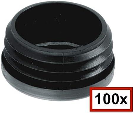 noir Lot de 10 bouchons ronds /à lamelles de 10 mm /à 120 mm