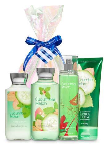 Cucumber Body Melon Splash - Bath & Body Works Cucumber Melon Iridescent Gift Kit | Shower Gel, Body Lotion, Body Cream & Fragrance Mist