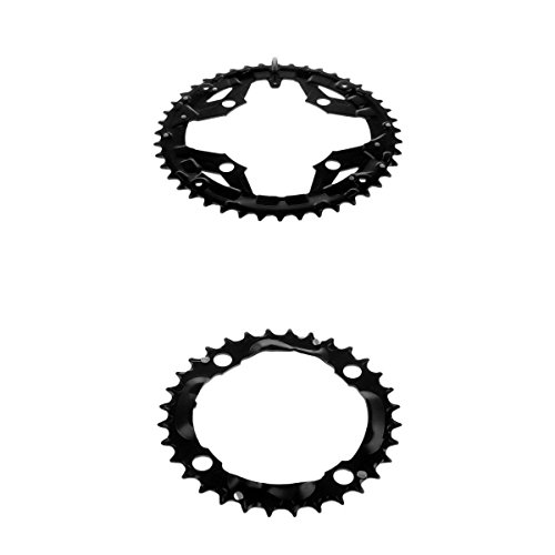 MagiDeal 2Pcs Narrow Wide Chainring 104BCD 32T 44T Bike Single Speed Chainring for Road Bike Mountain Bike BMX MTB by MagiDeal