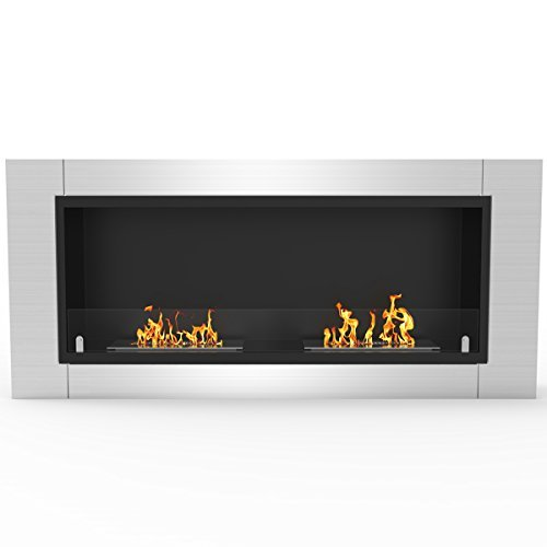 (Regal Flame Fargo 43 Inch Ventless Built In Recessed Bio Ethanol Wall Mounted Fireplace)