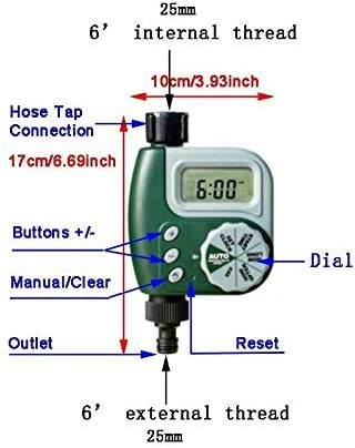 Automatic Watering Device Garden Irrigation Control Timer Outdoor Irrigation Controller Solenoid Valves Timer Weoto Sprinkler Timer