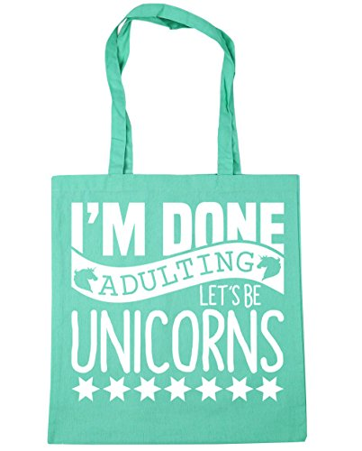 Beach Done Be Let's Mint Gym Shopping HippoWarehouse 10 42cm Bag litres Unicorns Tote Adulting I'm x38cm 5IKTqxzxHw