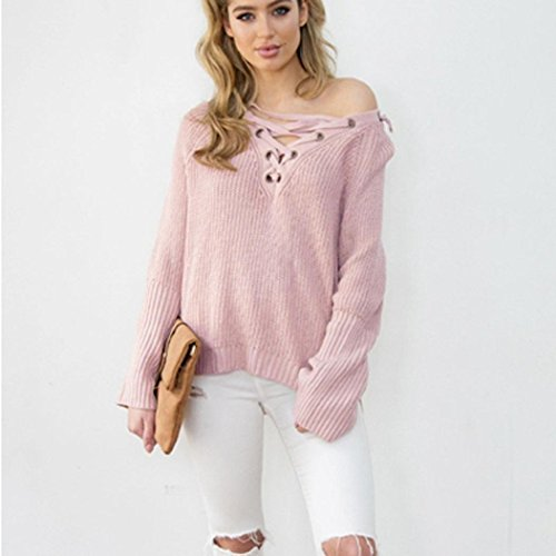tricot manches Femme Tricot Tonsee longues en Top Pull 1UIqSxSw5