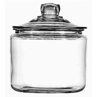 Image of Round Tea Jar with Glass Lid - 96 oz, 1 pc,(Frontier)