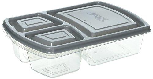 Fit & Fresh JAXX- Juego de recipientes para comida con tabla de cortar a presión, estilo Bento dividido, incluye 5...
