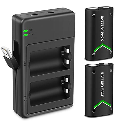 Big Summer Sale -Upgraded Version Xbox One Battery Pack 2 x 2200mAh Rechargeable Battery for Xbox One/Xbox One S/Xbox One X/Xbox One Elite Wireless Controller