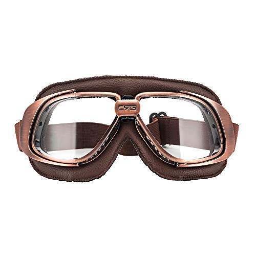 MotorFansClub Motorcycle Aviator Pilot Goggles Vintage Goggles Aviator Pilot Style Motorcycle Cruiser Scooter -