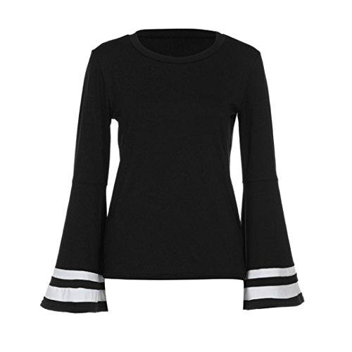Venture Mesh Vest (Women's Blouse, LUNIWEI Women Casual Loose Flare Long Sleeve Shirt O Neck Top Blouse (S, Black))