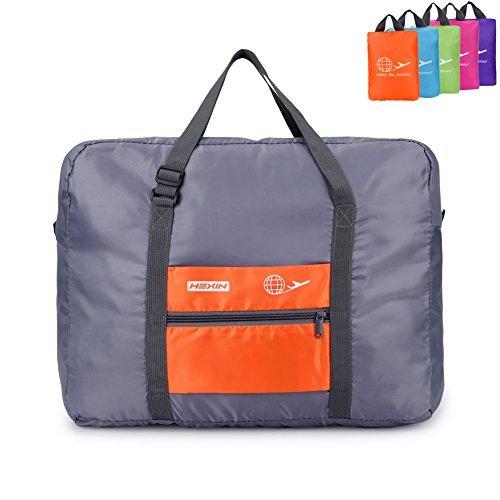 HEXIN Duffle Luggage Travel Overnight Waterproof Bag Orange