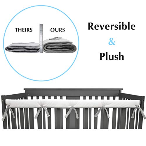 American Baby Company Heavenly Soft Narrow Reversible Crib Rail Cover