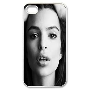 IPhone 4/4s Case Emily Ratajkowski, IPhone 4/4s Case Emily Ratajkowski Protector for Girls, [White]