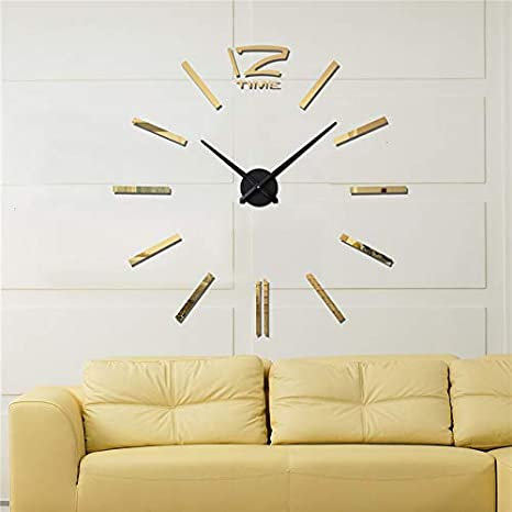 Kamas Reloj Pared 2019 3D Wall Stickers Creative Living Room Clocks Large Wall Clock Modern Design