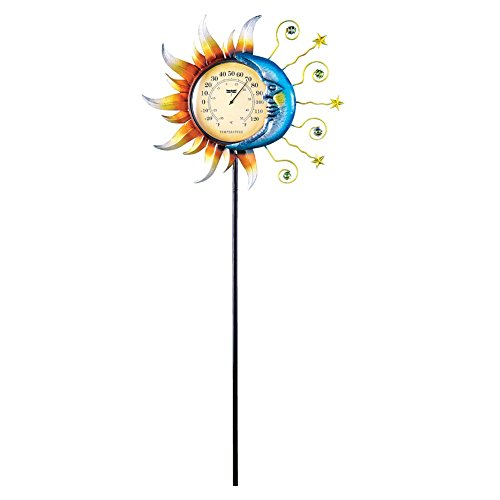 Celestial Thermometer Garden Decor Yard Stake
