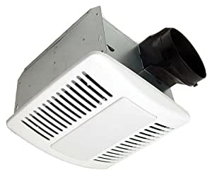 Kaze appliance se110tl modern ultra quiet bathroom exhaust - Ultra quiet bathroom exhaust fan with light ...