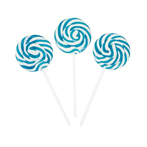 - Fun Express - Swirl Pops (Light Blue) (1-Pack of 24)