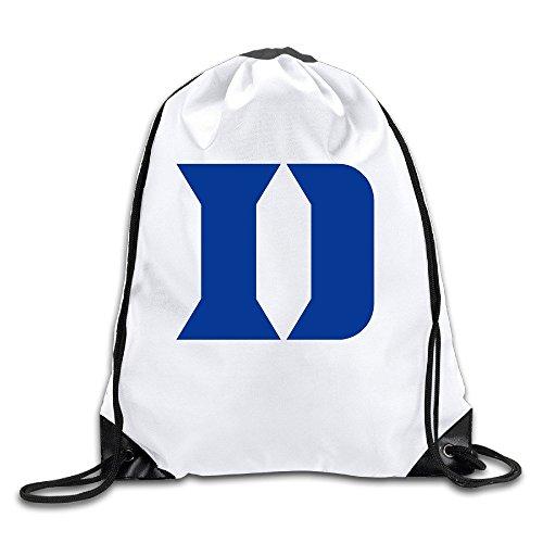 Duke Blue Devils Basketball Logo White Drawstring Backpack Sport Bag For Men & Women