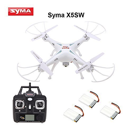 Syma X5SW 4 Channel Remote Controlled Quadcopter with HD Camera for Real Time Video Transmission 31 x 31 x 10 5cm Whiteの商品画像