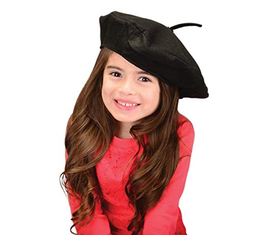 US Toy Unisex French Beret Novelty Party Beatnik Hippie Hat, Black (2-Pack) for $<!--$6.07-->