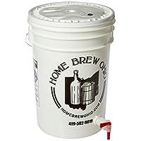 Cubo de embotellado de 6.5 galones con tapa y espita para embotellar cerveza