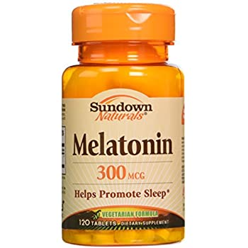 Sundown Naturals Sundown Naturals Melatonin, 120 Tablets 300 mcg(Pack of 3)