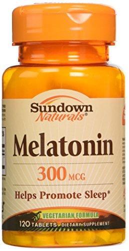 Mcg Melatonin 300 - Sundown Naturals Sundown Naturals Melatonin, 120 Tablets 300 mcg(Pack of 3)