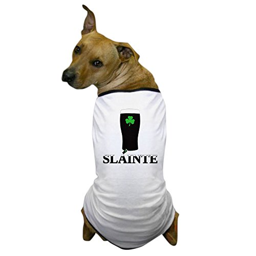 CafePress - Slainte Irish Stout Dog T-Shirt - Dog T-Shirt, Pet Clothing, Funny Dog Costume (Cheers And Beers Costume)