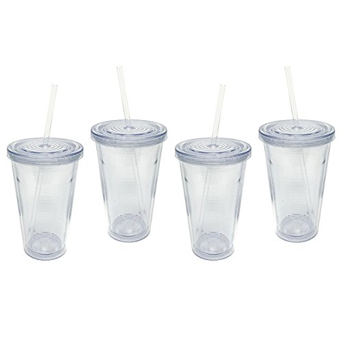 16 oz tumbler with lid and straw - 7