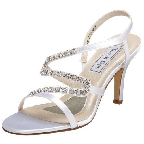 Touch Ups Women's April Sandal,White,5 M US
