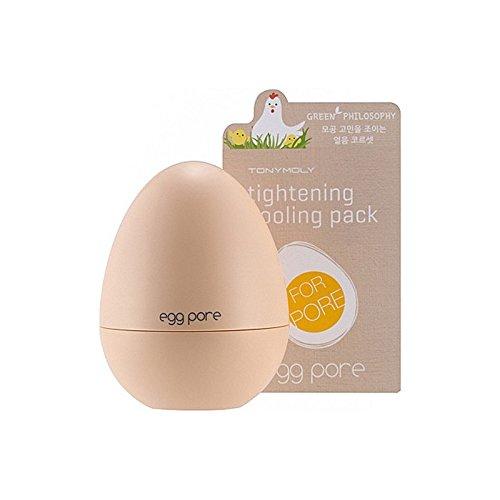 冷却パック30グラムを締めトニーモリーエッグポア x4 - Tony Moly Egg Pore Tightening Cooling Pack 30G (Pack of 4) [並行輸入品]   B07255HLCZ