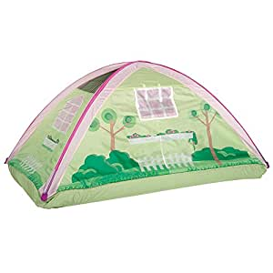 Pacific Play Tents Kids Cottage House Bed Tent Playhouse - Fits Full Size Mattress