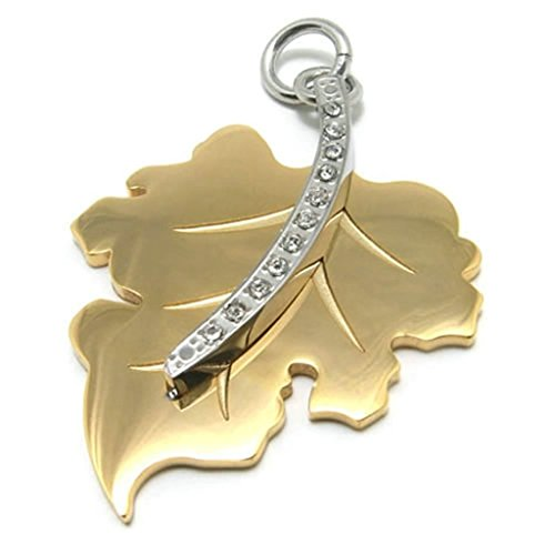 - AMDXD Jewelry Vintage Necklace,Stainless Steel Pendant Necklaces for Men Maple Leaf 26 Inch
