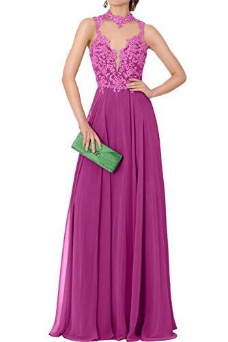 Abendkleider Ivydressing Neu Lang Huntergruen Chiffon Spitze Promkleider 2017 Fuchsia Elegant Festkleid xYZSPx7