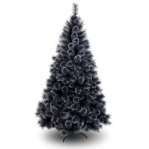 XL- Árbol de Navidad Árbol de Aguja de Pino Cifrado Negro Adorno de Navidad Decoración con bisagras (Tamaño : 1.8 Height)