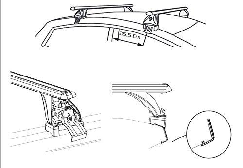 Alu Dachträger Aurilis Original für Ford S-Max Kombi ohne Reling 5Türer ab 15