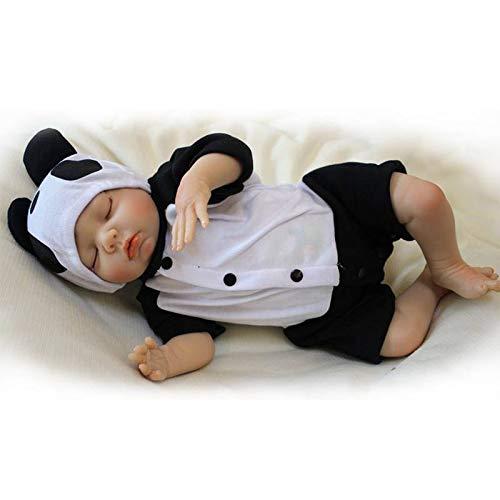 V/êtements Panda RD45C501C-OTD Nicery Reborn Baby Doll Renaissance B/éb/é Poup/ée Doux Simulation Silicone Vinyle 16-18pouces 40-45cm Bouche Vivant Gar/çon Fille Jouet Vif r/éaliste /Âge 3