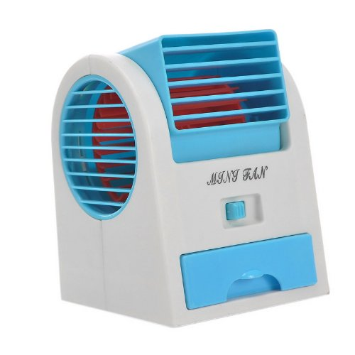 Mini Small Fan Cooling Portable Desktop Dual Bladeless Air