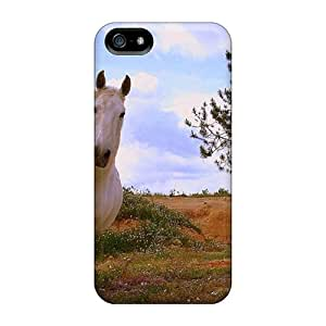 Iphone 5/5s Case Cover - Slim Fit Tpu Protector Shock Absorbent Case (ballad Horse)