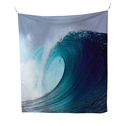 Ocean Decorocean tapestryTropical Surfing Wave on a Windy Sea Indonesia Sumatra 54W x 72L inch Large Tapestry