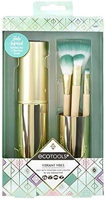 Ecotools Vibrant Vibes - Juego con brochas de maquillaje para cara y ojos, con estuche de almacenamiento: Amazon.es: Belleza