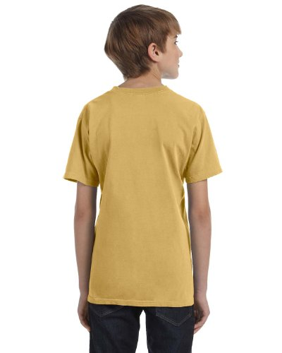 (Authentic Pigment Youth 5.6 Oz. Ringspun T-Shirt, XS, Mustard)