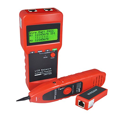 Hunt Sort and Check Network LAN Cable Wire Line Tester and Measure Length