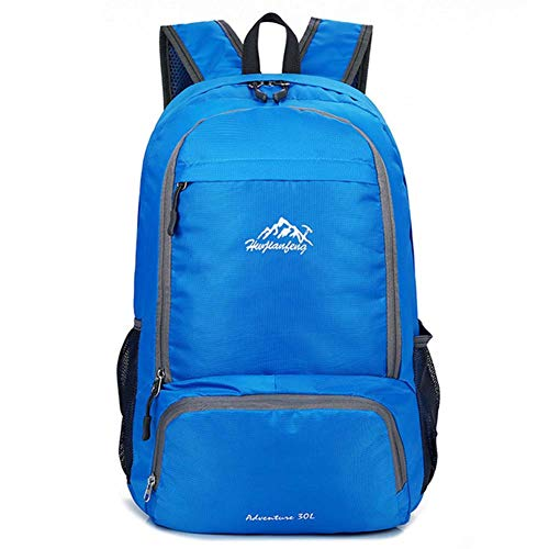- Foldable Lightweight Waterproof Travel and Hiking Backpack for Men and Women 20L Useful Small Portable for School Gym and Camping Sport Ski Business Rucksack,Blue