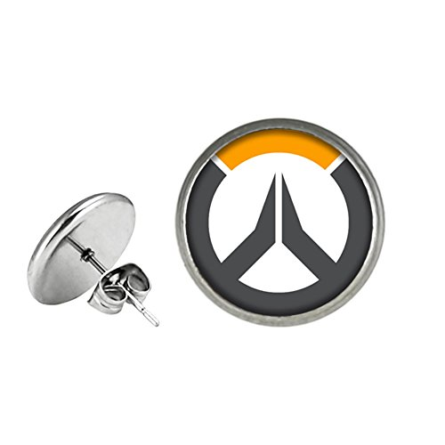 Overwatch Post Stud Earrings Character Cartoon Superhero Gaming Console PC Games Logo Theme Cosplay Premium Quality Detailed Jewelry Gift Series by Superheroes Brand